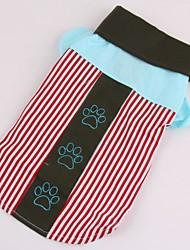 cheap -Dogs / Cats / Pets T-shirts Dog Clothes Striped / Print / Color Block Blue / Pink Cotton Costume For Pets Female Unique Design / Stripes