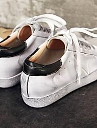 povoljno -Žene Cipele Koža Jesen Udobne cipele Sneakers Ravna potpetica za Vanjski Crn / Zelen