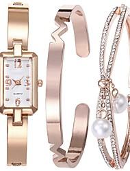 baratos -Mulheres Bracele Relógio Japanês Cronógrafo Lega Banda Rígida / Minimalista Prata / Ouro Rose / Dois anos / Sony SR626SW + CR2025