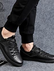 Недорогие -Муж. обувь Кожа Лето Светодиодные подошвы Туфли на шнуровке Черный