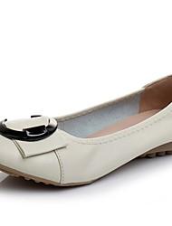 Недорогие -Жен. Обувь Кожа Весна лето Балетки / Удобная обувь На плокой подошве На плоской подошве для Бежевый / Желтый / Синий