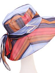 baratos -Mulheres Básico / Férias Chapéu de sol - Laço Listrado