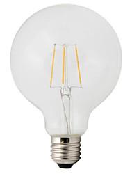 baratos -1pç 4W 360lm E26 / E27 Lâmpadas de Filamento de LED G95 4 Contas LED COB Decorativa Branco Quente 220-240V / 1 pç / RoHs