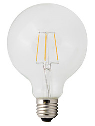 cheap -HRY 1pc 4W 360 lm E26/E27 LED Filament Bulbs G95 4 leds High Power LED Decorative Warm White AC 220-240V