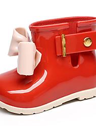 Недорогие -Мальчики Обувь ПВХ Весна лето Резиновые сапоги Ботинки для Черный / Красный / Миндальный