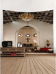baratos -Igreja Decoração de Parede Poliéster Moderna Modern Arte de Parede, Tapetes de parede Decoração