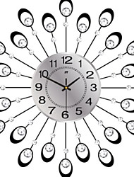 cheap -Distinguished Plastic & Metal Round Indoor,AAA Batteries Powered Wall Clock