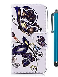 abordables -Coque Pour Nokia Nokia 5 / Nokia 3 Portefeuille / Porte Carte / Avec Support Coque Intégrale Papillon Dur faux cuir pour Nokia 5 / Nokia