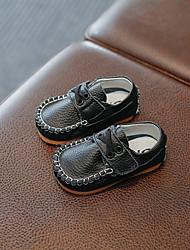 abordables -Garçon Chaussures Cuir Printemps & Automne Premières Chaussures Mocassins et Chaussons+D6148 Scotch Magique pour Bébé De plein air Blanc