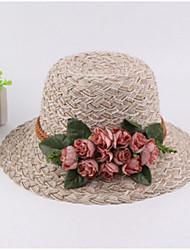 abordables -Femme Vacances Chapeau de soleil Couleur Pleine