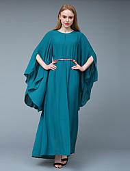 cheap -BENEVOGA Women's Sophisticated Street chic Sheath Tunic Swing Dress - Solid Colored Ruffle