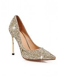 cheap -Women's Shoes PU(Polyurethane) Spring & Summer Basic Pump Heels Walking Shoes Stiletto Heel Pointed Toe Black / Peach / Silver