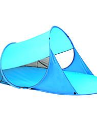 abordables -3 personas Tienda con pantalla protectora / Tienda de playa Solo Carpa para camping Al aire libre Ligeras, Resistentes a los rayos UV, UPF50+ para Playa / Camping / Senderismo / Cuevas / Picnic <1000