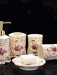 baratos -Jogo de Acessórios para Banheiro Fofo / Novo Design Modern Cerâmica 5pçs - Banheiro Solteiro (L150 cm x C200 cm)