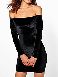 cheap -women's going out skinny bodycon dress - solid colored high waist mini strapless