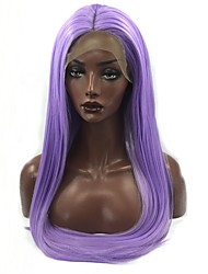 cheap -Synthetic Lace Front Wig Straight Middle Part Synthetic Hair Adjustable / Heat Resistant / Women Purple Wig Women's Long Lace Front / Fashion / Yes