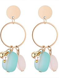 baratos -Mulheres Brincos Compridos - Resina Doce, Fashion Azul / Rosa claro / Rosa Claro Para Festa de Noite Aniversário