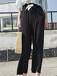 cheap -Women's Basic Wide Leg Pants - Solid Colored