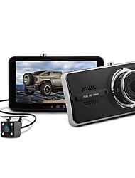 Недорогие -Blackview 1080p Двойной объектив / с задней камерой Автомобильный видеорегистратор 150° Широкий угол Датчик CMOS 4 дюймовый IPS Капюшон с