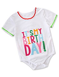 cheap -Baby Girls' Active / Basic Holiday Print Print Short Sleeves Bodysuit