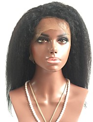 cheap -Remy Human Hair Lace Front Wig Brazilian Hair Straight Wig Layered Haircut 150% With Baby Hair / Natural Hairline / African American Wig Black Women's Short / Long / Mid Length Human Hair Lace Wig