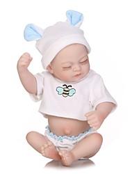 baratos -NPKCOLLECTION Bonecas Reborn Bebês Meninas 12 polegada Silicone de corpo inteiro / Vinil de Criança Para Meninas Dom