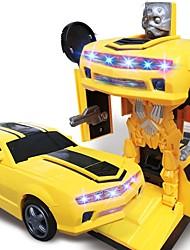 baratos -Carros de Brinquedo Carro / Robô Transformável / Criativo / Música e luz Revestimento em Plástico Crianças Dom 1 pcs