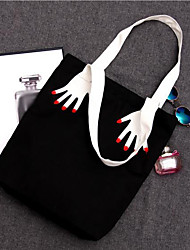 cheap -Women's Bags Canvas Tote Embroidery Black