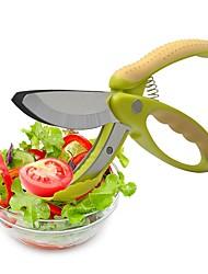 baratos -Utensílios de cozinha Aço Inoxidável Início ferramenta da cozinha Scissor / Salad Tools Fruta / Vegetais / Salada 1pç