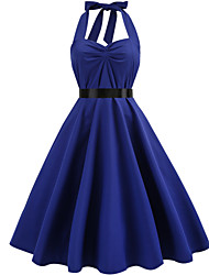 cheap -Women's Vintage Swing Dress - Solid Colored
