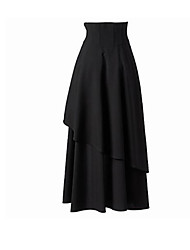 cheap -Women's Boho / Street chic Swing Skirts - Solid Colored Black & White
