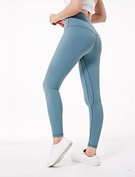baratos -Mulheres Calças de Yoga - fúcsia, Tinta Azul, Verde Claro Esportes Elastano Meia-calça / Leggings Roupas Esportivas Confortável Elasticidade Alta