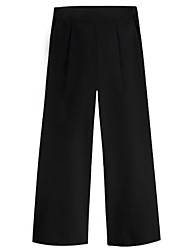cheap -Women's Loose Wide Leg Pants - Solid Colored High Waist / Going out