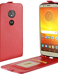 cheap -Case For Motorola MOTO G6 / Moto G6 Play Card Holder / Flip Full Body Cases Solid Colored Hard PU Leather for Moto X4 / MOTO G6 / Moto G6 Play