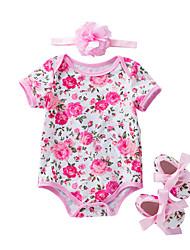 abordables -2pcs Bebé Chica A Rayas / Geométrico Mangas cortas Bodysuit