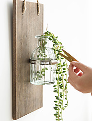 cheap -Vase / Creative Wall Decor Wooden / Glasses European / Pastoral Wall Art, Wall Hangings Decoration