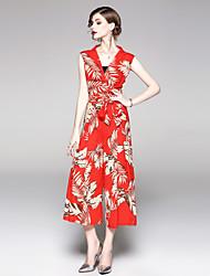 cheap -SHIHUATANG Women's Boho / Street chic Jumpsuit - Floral, Print