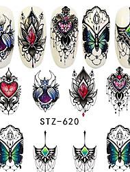 abordables -5 pcs Autocollant pour ongles Décalques pour ongles Nail Art Design Coloré Usage quotidien / Festival