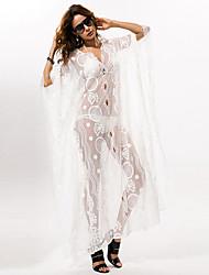 billige -Dame I-byen-tøj Løstsiddende Tunika Kjole Maxi V-hals