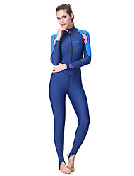 cheap -Dive&Sail Women's Rash Guard Dive Skin Suit SPF50, UV Sun Protection, Quick Dry Spandex / Polyamide Full Body Swimwear Beach Wear Diving Suit Patchwork Front Zip Diving / Surfing / Snorkeling