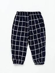 abordables -bébé Garçon Basique Damier Coton Pantalons Blanc / Bébé
