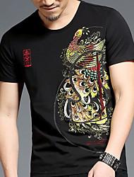 povoljno -Majica s rukavima Muškarci Izlasci / Vikend Geometrijski oblici / Životinja