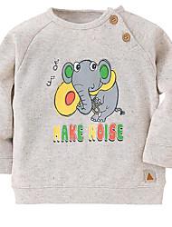 economico -Bambino Da ragazzo Essenziale Con stampe Manica lunga Felpa e felpa con cappuccio / Bambino (1-4 anni)