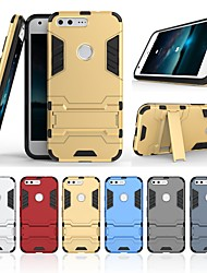 cheap -Case For Google Pixel XL with Stand Back Cover Solid Colored Hard PC for Google Pixel XL