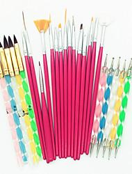 Недорогие -25 шт. Инструмент для ногтей расставить инструменты Кисти для ногтей Модный дизайн / Разные цвета / обожаемый маникюр Маникюр педикюр Профессиональный / Универсальная Свадьба / Вечерние / Повседневные