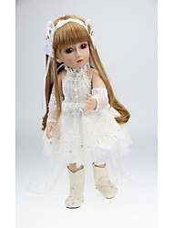cheap -NPKCOLLECTION Ball-joined Doll / BJD Country Girl 18 inch Full Body Silicone / Silicone / Vinyl - lifelike, Artificial Implantation Brown Eyes Kid's Gift