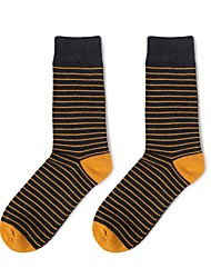 cheap -1 Pair Unisex Socks Standard Print Promotes Good Mood Simple Style Cotton In-tube EU36-EU42