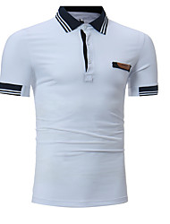 cheap -Men's Business / Basic Polo - Solid Colored / Color Block
