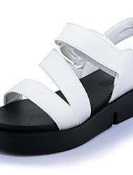 abordables -Femme Chaussures Polyuréthane Printemps été A Bride Arrière Sandales Creepers Bout ouvert Perle / Boucle Blanc / Noir / Vert