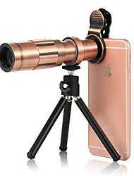 abordables -Lente de teléfono móvil Gran Angular Aleación de aluminio Macro 20X 3 m 70 ° Lente con Soporte